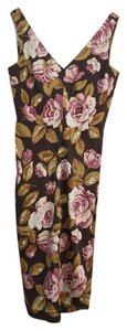 Moda International Silk Flowers Print Sleeveless Dress