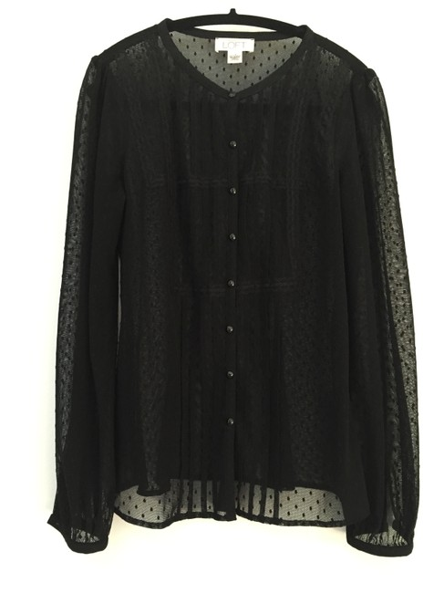 Preload https://img-static.tradesy.com/item/20132589/ann-taylor-loft-black-sheer-blouse-size-2-xs-0-0-650-650.jpg