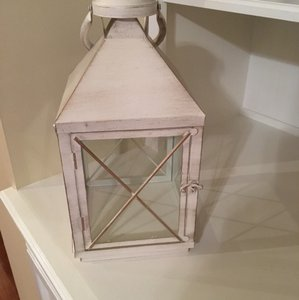 Pier 1 Imports Gold and Ivory Lantern Reception Decoration