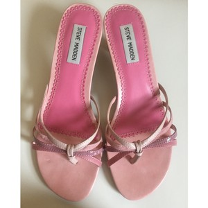 Steve Madden Strappy Low Heel Pink Sandals
