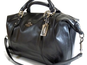Coach Leather Satchel in BLACK