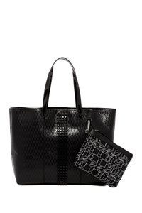 L.A.M.B. Lamb Leather Tote in Black