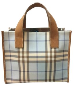 Burberry London Nova Check Blue Check Tote Satchel