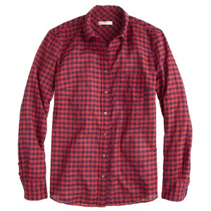 Boyfriend Plaid Gingham Fall Button Down Shirt