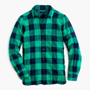 J.Crew Boyfriend Buffalo Plaid Button Down Shirt