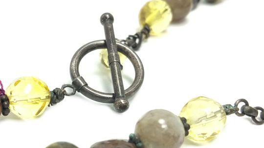 Kinley Sterling silver Multi Strand Cross Kinley Necklace in Tourmaline Image 9