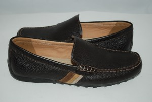 Geox Black Patent Leather Loafers Mens brown Flats
