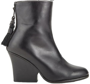 Rag & Bone Leather Wedge Bootie black Boots