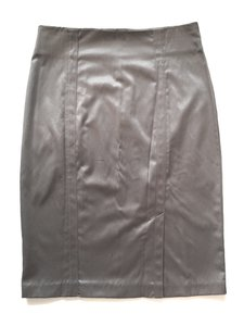 LVLX Satin Silver Unique Skirt gray