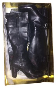 Modern Vintage Boot Tall Boot Black Boots
