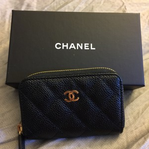 Chanel NEW Chanel classic caviar wallet card case coin purse