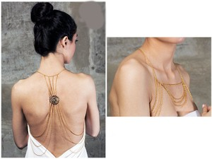 Body chain Full Front back Backless dress Body chain necklace jewelry, 2017