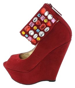 Shiekh Red Wedges