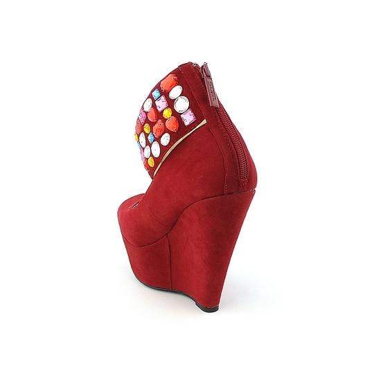 Shiekh Red Wedges Image 1