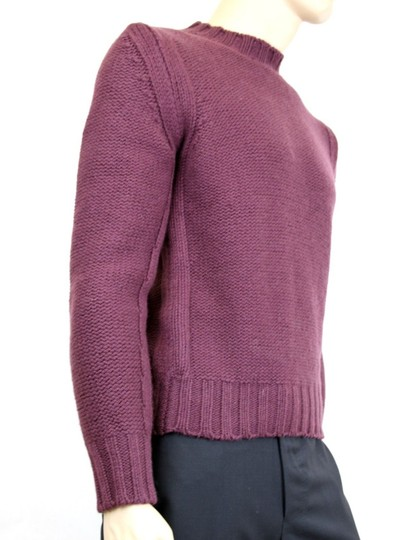 Gucci Eggplant XL New Men's Wool/ Cashmere Sweater Top 299461 Groomsman Gift Image 3