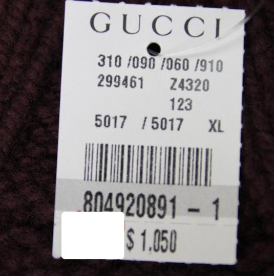 Gucci Eggplant XL New Men's Wool/ Cashmere Sweater Top 299461 Groomsman Gift Image 9