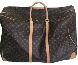 Louis Vuitton Monogram Leather Brown & Tan Travel Bag