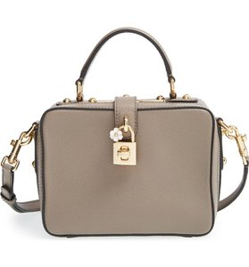 Dolce&Gabbana Dolce And Gabbana D&g Rosaria Leather Lock Cross Body Bag