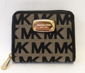 Michael Kors Michael Kors Jet Set Zip Around Small Wallet Signature Jacquard NWT