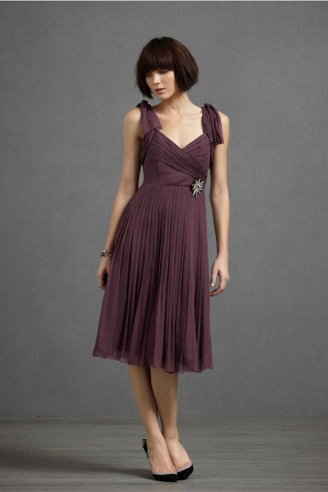 b619ab2dc13 Anthropologie Plum Sway-and-swirl Knee Length Cocktail Dress Size 8 ...