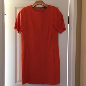 Vince short dress Leather Orange Perforated Dress on Tradesy