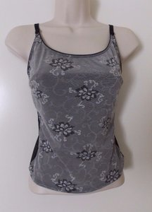 Liz Claiborne Top Gray/black/white