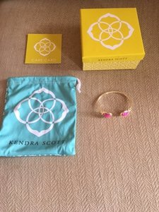 Kendra Scott Pink and Gold Bracelet