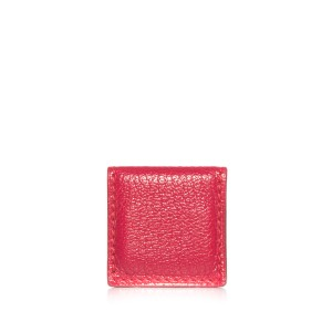 Hermès Hermes Red Leather Magnetic Money Clip