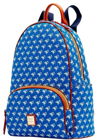 Preload https://img-static.tradesy.com/item/20133383/dooney-and-bourke-blue-leather-canvass-backpack-0-6-540-540.jpg