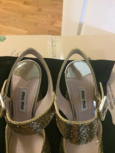 Miu Miu Gold Glitter Formal