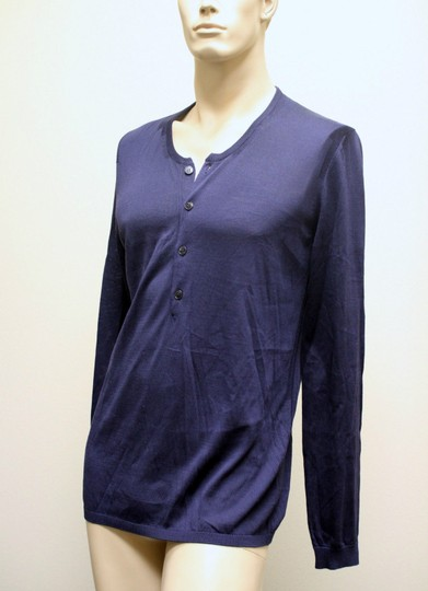 Gucci Navy New Buttoned Men's Silk Sweater Top Xxl 2xl 260483 4440 Groomsman Gift Image 2