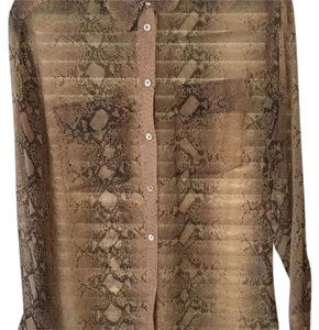Equipment Button Down Shirt Blush snake skin