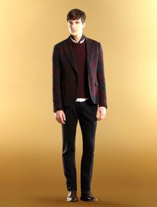 Gucci Eggplant New Men's Wool/ Cashmere Sweater Top S 299461 Groomsman Gift