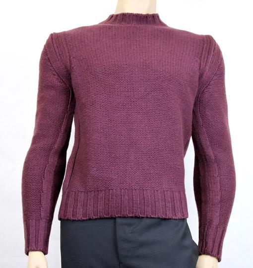 Gucci Eggplant New Men's Wool/ Cashmere Sweater Top S 299461 Groomsman Gift Image 1