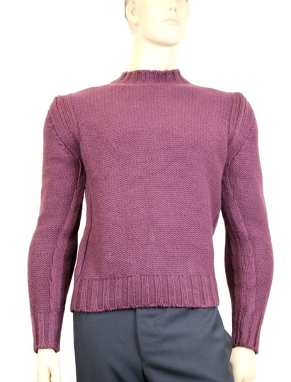 Gucci Eggplant New Men's Wool/ Cashmere Sweater Top S 299461 Groomsman Gift Image 2