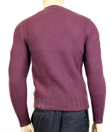 Gucci Eggplant New Men's Wool/ Cashmere Sweater Top S 299461 Groomsman Gift Image 4