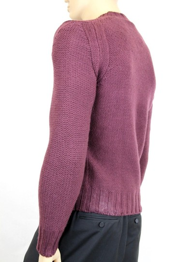 Gucci Eggplant New Men's Wool/ Cashmere Sweater Top S 299461 Groomsman Gift Image 5