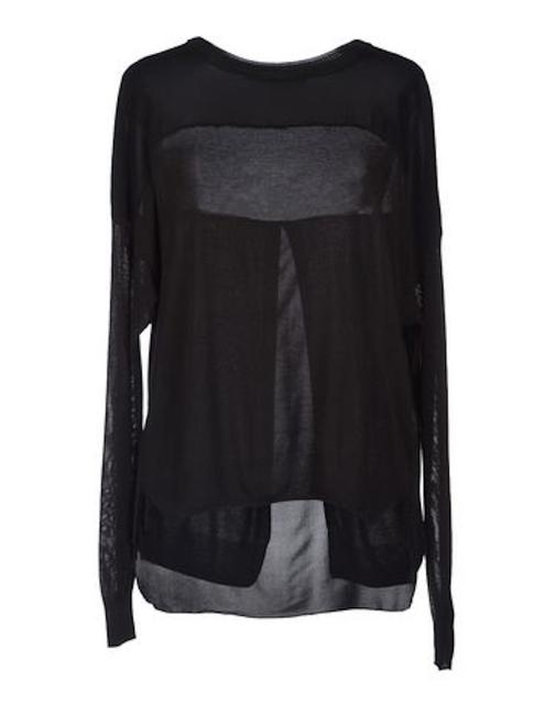 Item - Contrast Black Sweater