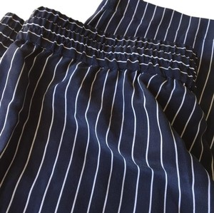 Equipment Striped Silk Relaxed Pants navy