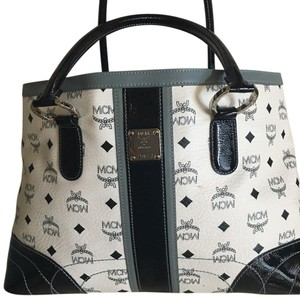 MCM Tote in Blue / White / Gray