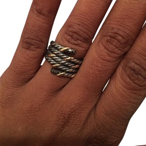 David Yurman SALE! David Yurman SS/18k Black Dia Ring