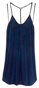 Band of Gypsies short dress Blue w/multicolored stripes on Tradesy