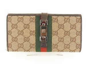 Gucci Authentic Gucci Monogram Canvas Signature Web Card Holder Wallet