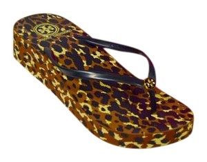 Tory Burch Leopard Animal Print Wedges