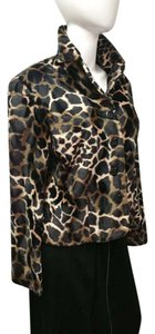 Allison Taylor Leopard Print Vintage Black and Tan Jacket
