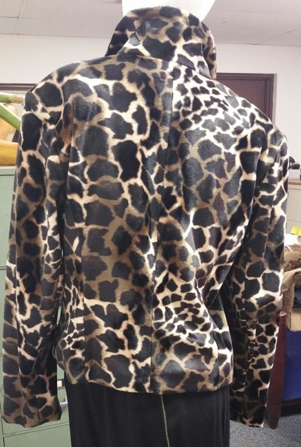Allison Taylor Leopard Print Vintage Black and Tan Jacket Image 3