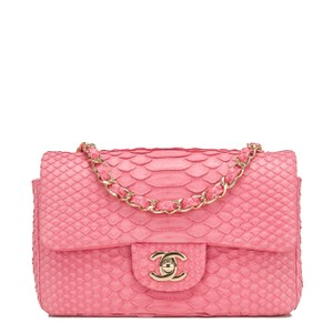 Chanel Pink Python Shoulder Bag