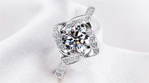 Silver And Aaa Zircon Engagement For Women Ring