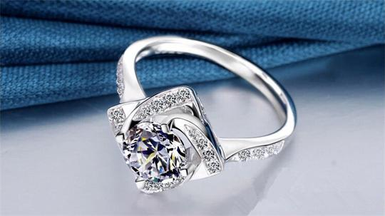 Silver And Aaa Zircon Engagement For Women Ring Image 4