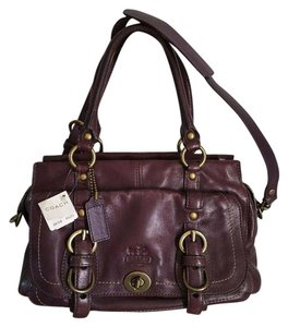 Coach Satchel in Amethyst